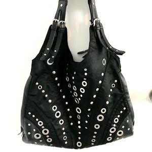 Franco Sarto Nylon Grommet Bag
